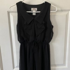 Black Collared Small Dress Mid thigh Length